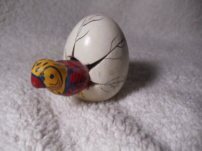 """Vintage Parrot Hatching From 2"""" Egg, Mexico"""