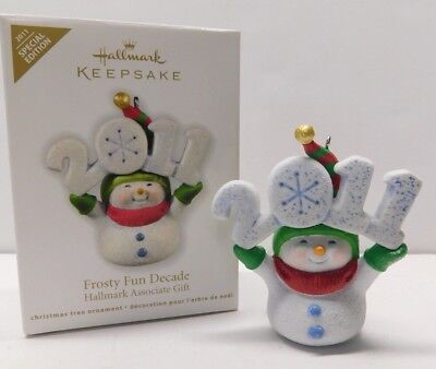 Hallmark Ornament 2011 Frosty Fun Decade * REPAINT * Special Ed. * FREE SHIPPING