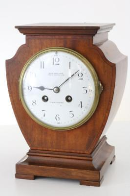 BEAUTIFUL MAHOGANY MANTEL CLOCK from the RAILWAY MAN with FRENCH BELL STRIKE