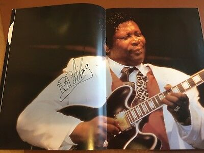 BB King signed programmes