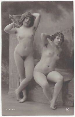 1920 French NUDE Photograph - Frontal, Gay Lesbian Theme by Jean Agelou