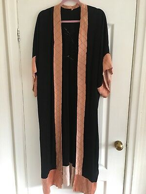 Vintage 1930's Embroidered Dressing Gown Size L