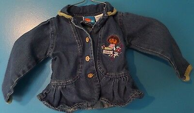 DORA THE EXPLORER Denim Jacket - Baby Girl's Size 18M...  Preowned