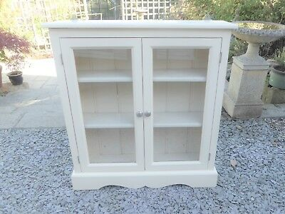 Vintage, Cream, French Style Shabby Chic Solid Pine Wall /Floor Cupboard, Ex con