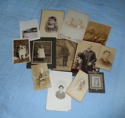 Lot of 13 Vintage photos of people, assorted time periods