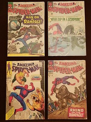 AMAZING SPIDER-MAN Lot 29 32 43 57 Comic Book Sharp Readers