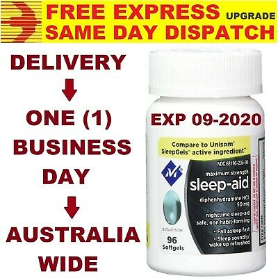 Members Mark Sleep Aid Diphenhydramine 50mg DOUBLE STRENGTH AU STOCK FAST SHIP!