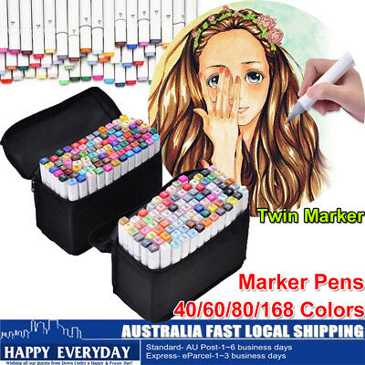Twin Marker Graphic Marker Pen Animation Design 40-168 Colours Alcohol Based Ink