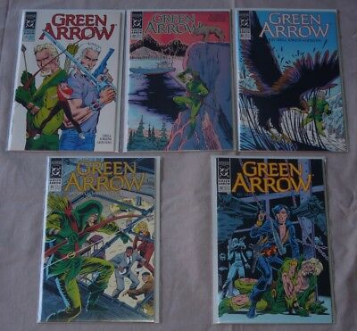 Green Arrow #'s 28-29-30-31-32 (FIVE Issues) (1990 DC) - Mike Grell (9.4 NM)
