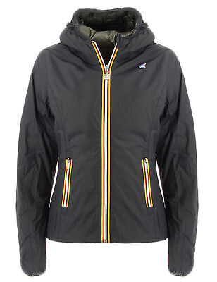 Kway giubbotto double face nero e grigio Lily Thermo Plus Double per donna  Kway a926ae03196