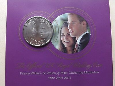 2011 UK Royal Mint, Royal Wedding, William & Kate, 5 Pound Coin