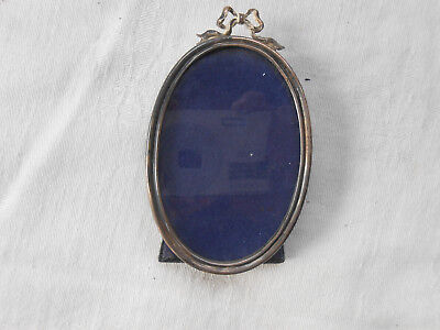 Vintage Cartier Sterling Silver Oval Photo Frame wirh Bow Hallmarked
