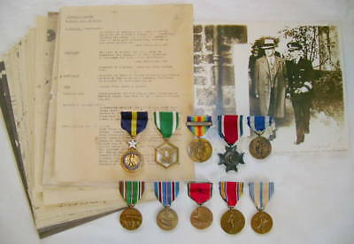 Rare BB&B WWI Navy Distinguished Service Medal officer's group w/ named NY CSC