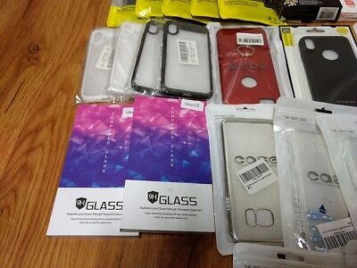 Bulk Wholesale lot of 37 Mixed Cell phone cases Various Apple Samsung Huawei NEW