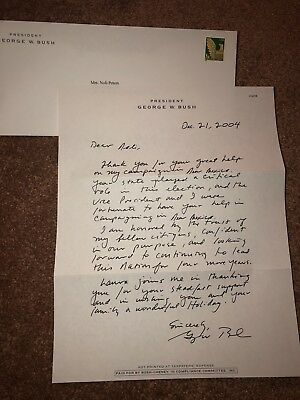 George W. Bush Autograph Letter Signed As President On His 2004 Election Win
