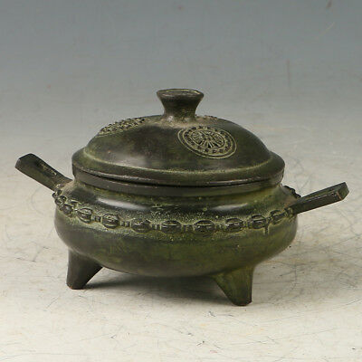 Chinese Copper  Hand Made  Incense Burner Statue