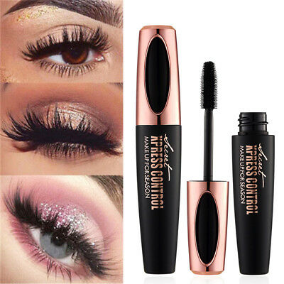 Black Eye Lashes Women Big Eyes Silk Fiber Eyelash 4D Mascara Makeup Extension