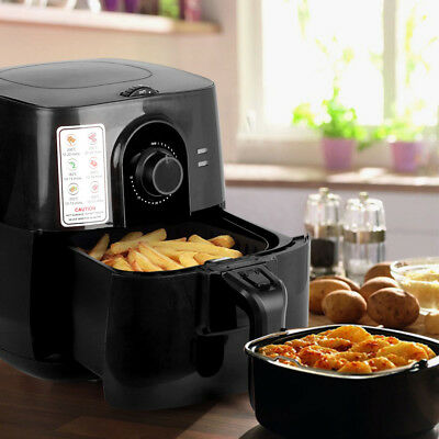 5 Star Chef 3L Air Fryer Oil Less Healthy Deep Cooker Low Fat Food Kitchen Black