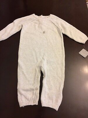 NWT Girls Tahari Baby Long Sleeve Knit Play Suit, Size 6–9 Months