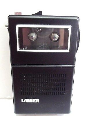 Vintage  70's Lanier P-150 Micro Cassette Black Recorder Tested   Works  VGC