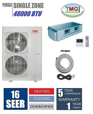 YMGI 48000 BTU 4 Ton Fan Coil Mini Split Air Conditioner Recessed install