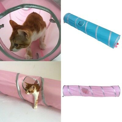 Super Long Cat Folding Tunnel Crinkly Play Tubes Collapsible Fun Cat Toy Gift TU