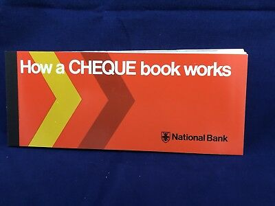 Vintage National Bank How To Use A Cheque Book Brochure. Promo Book 1970's.