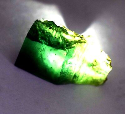 55 Ct Nice Natural Translucent Green Serpentine Earth Mined Facet Slab Rough
