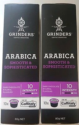 X20 Coffee Capsules Pods Grinders Caffitaly System Intensity Arabica 10 BNIB