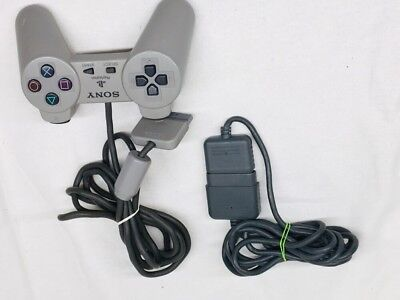 Official OEM Sony Playstation 1 PS1 Dual Shock Controller Gray SCPH-1080 Analog