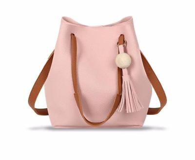 New Fashion Small Size Tassel Decorated Bucket Shape Shoulder Bag for Women