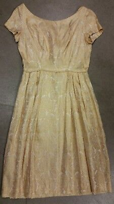 Gold yellow Vintage 50s Dress Party Races Bridesmaid