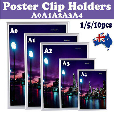 A0 A1 A2 A3 A4 Aluminium Poster Holding Frame Picture Display Holder Menu Notice