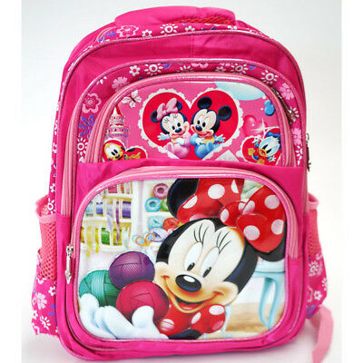 Large Kids Children Girls Disney Minnie Mouse Backpack School Bags 30x40cm