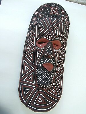 Vintage African Tribal  Wood Mask Carved / Painted  Estate  Find Primitive Art