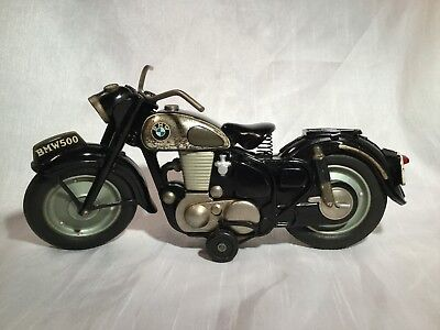Bandai Motor / Motorrad / Motorcycle BMW 500 Friction Tin Toy Japan Rare !