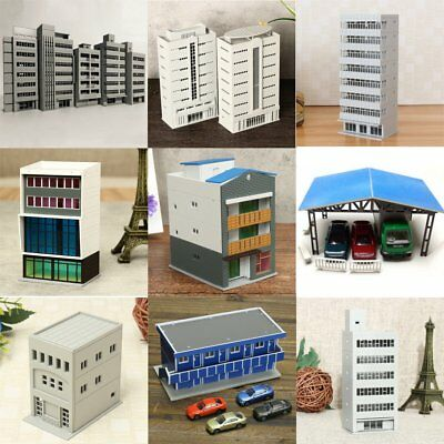 Outland Building Model N HO Scale Gauge Scene Office Train House Apartment Gifts