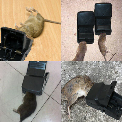 14cm X 7.5cm Heavy Duty Aggressive Rat Traps Self Setting Rat Splatter Beware