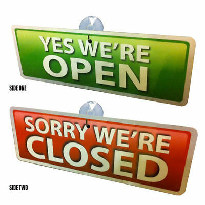 Window Sign OPEN and CLOSED FREE P&P