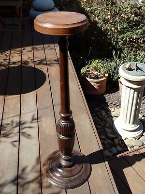 Large carved pedestal stand