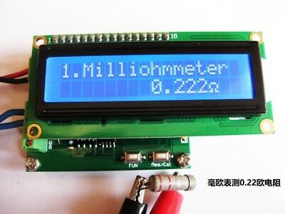 Milliohm meter low resistance tester ohmmeter measure 0.001~120 Ω 10pf~20000uf