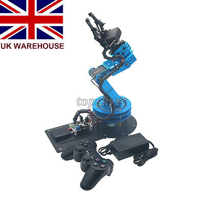 LeArm 6DOF Mechnical Robotic Arm Kits + 6PCS Digital Servo+PS2 Handle Control UK