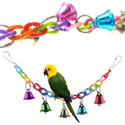 Bird Toy Parrot Swing Colorful Cage Toys for Parakeet Cockatiel Budgie Lovebird