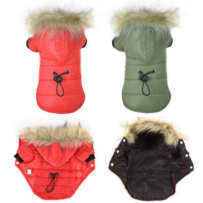 Winter Coat Pet Small Dog Puppy Hoodie Warm Jacket Clothes Apparel Outwear