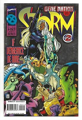 Storm  (Gene Nation) #2  NM  Silver Foil, Embossed Cover 1996 Marvel