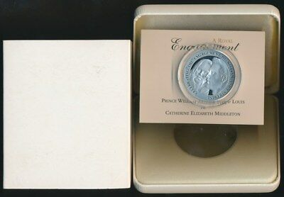 Alderney 2010 £5 Silver 9.25 Proof Engagement Prince William Catherine Middleton
