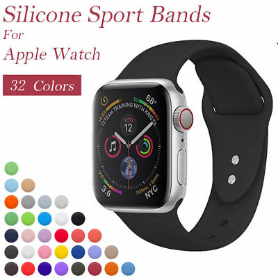 Replacement Silicone Sport Band Strap For Apple Watch Series 4/3/2/1 38/42mm