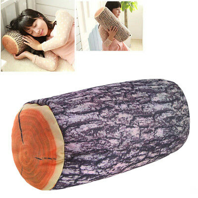 Tree Stump Shape Plush Soft Throw Pillow Cushion Car Seat Headrest Ornament Gift