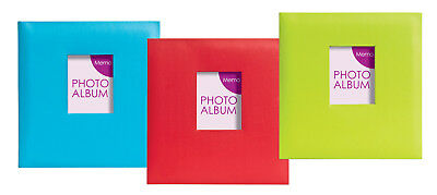 12x Festival Gluebound Slip in Memo Photo Albums Holds 200 Photos 6x4, 3 Colours