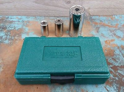 Gator Grip Socket Set 'original'  Made In Usa *as New*